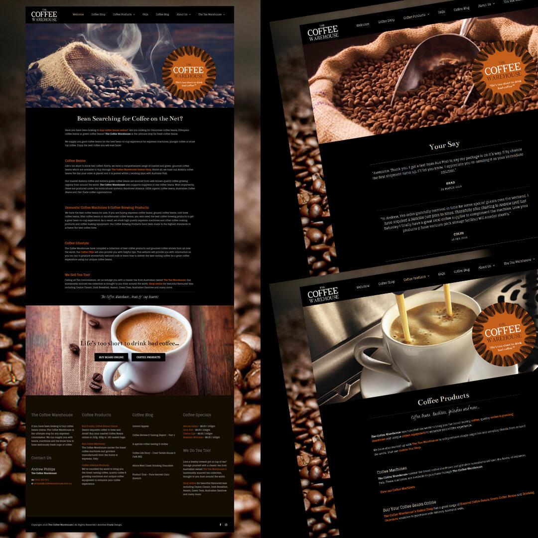 The Coffee Warehouse responsive Wordpress website design