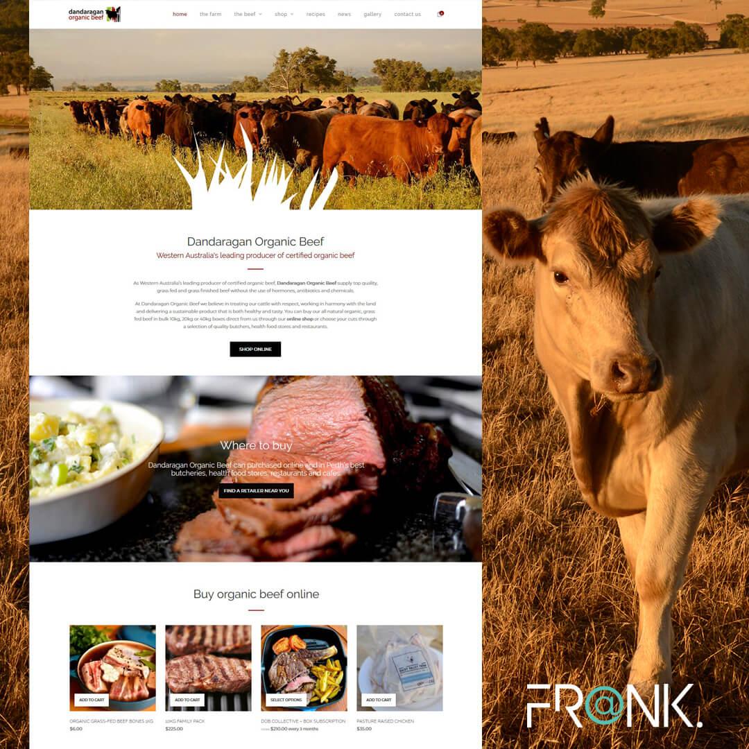 Dandaragan Organic Beef responsive Wordpress website design