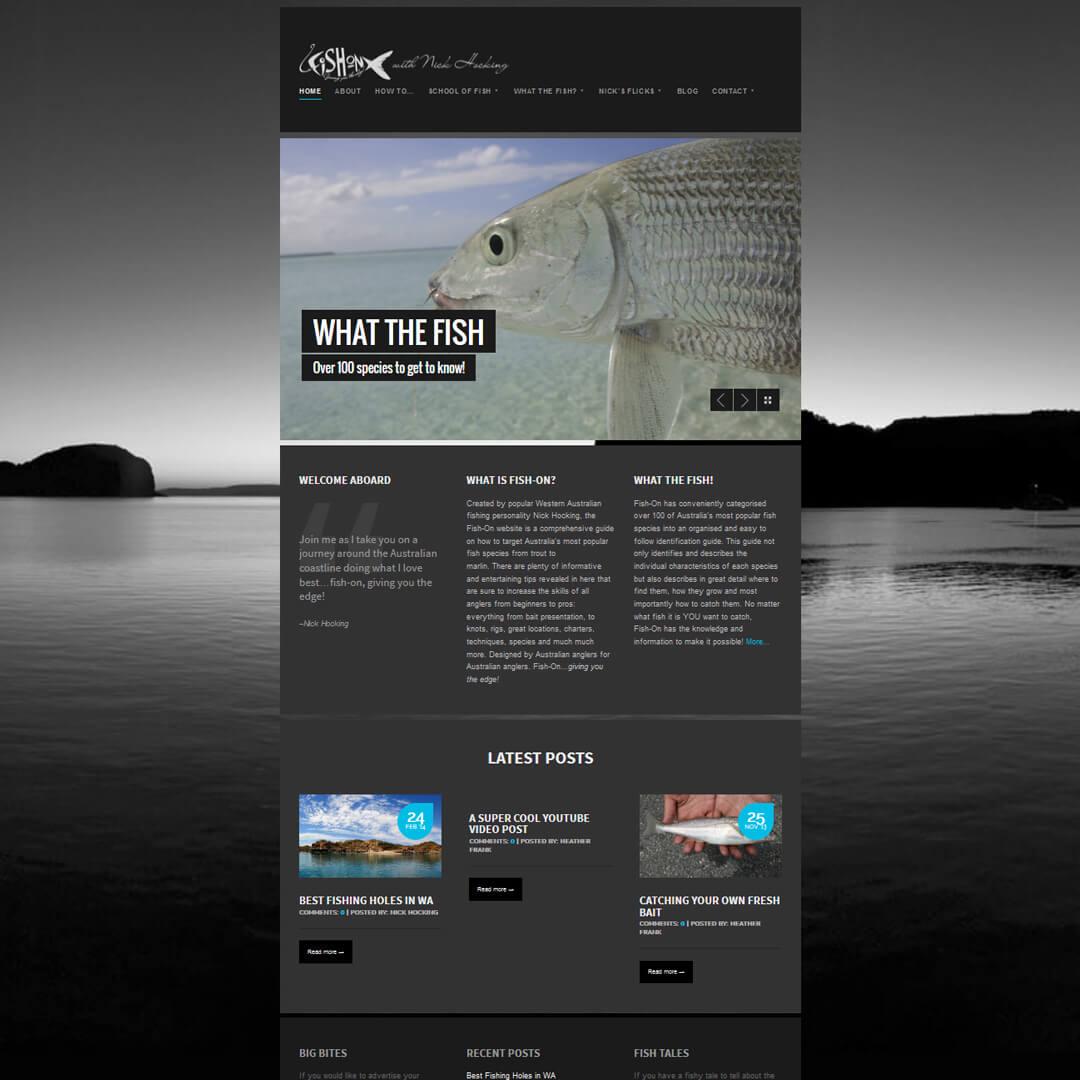 Fish-On responsive Wordpress website design