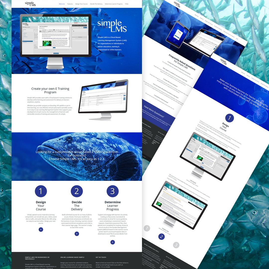 Simple LMS responsive Wordpress website design